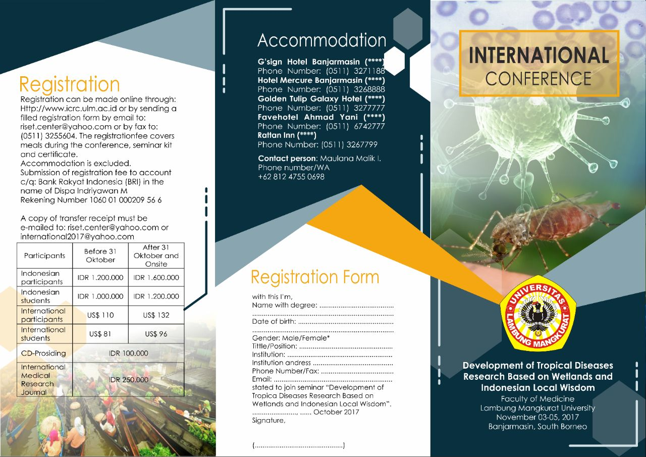 """Seminar Internasional """"Development of Tropical Disease Research Based on Wetlands and Indonesian Local Wisdom"""""""